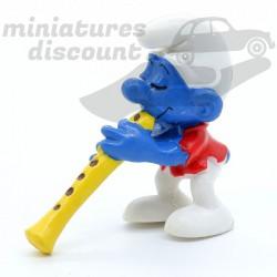 Figurine Schtroumpf Flûte -...