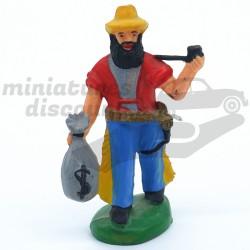 Cowboy avec Sac de Banque -...