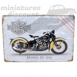 Plaque Déco en métal, Motor...