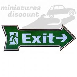 """Plaque Déco en bois, """" Exit """""""