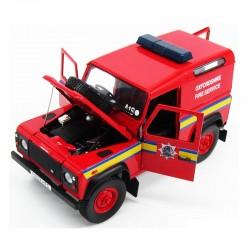 Land Rover Defender 90 Pompiers Oxfordshire Fire Service - 1/18eme UH en boite
