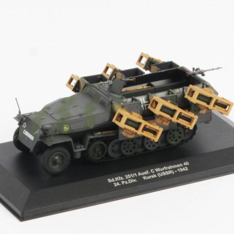 Sd Kfz 251/1 Ausf C Wurfrahmen 40 24. Pz Div Kursk USSR 1942 - 1/43eme