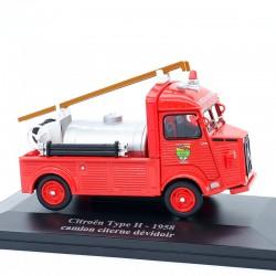 Citroen Type H Camion Pompier Citerne Dévidoir de 1958 - Eligor - 1/43 ème Sous blister