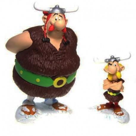 Lot de Figurines Asterix plus Obelix en résine PLASTOY - 14CM - Sous Blister