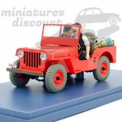 La Jeep rouge - Tintin au...