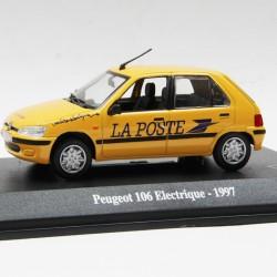 Peugeot 106 Electrique de 1997 - La Poste - au 1/43 en boite