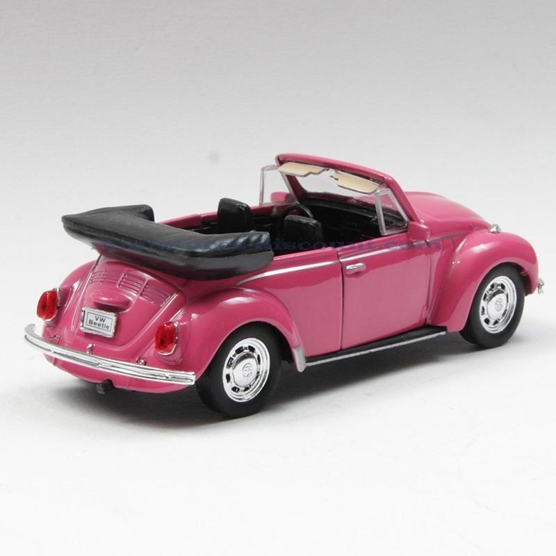 volkswagen coccinelle rose cabriolet welly 12cm en boite miniatures discount. Black Bedroom Furniture Sets. Home Design Ideas