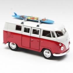 Volkswagen Combi Rouge Surf -  Welly (12cm) en boite