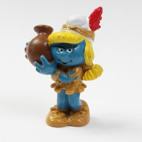 Figurine Schtroumpf - Schleich - Schtroumpfette Indien - Germany Peyo.