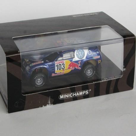 Volkswagen Race Touareg n°103 - Rallye La Sampas 2005 - Minichamps - au 1/43 en boite