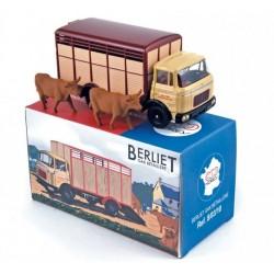 Betaillere Berliet GAK + 2 vaches - Norev - en Métal et en boite - Réédition