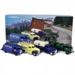 Coffret de 4 Camions - FORD POISSY & STUDEBAKER - CIJ - Norev - en Métal et en boite - Réédition