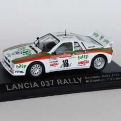 Lancia 037 Rally Rally de Sanremo 1983 N°18 - M.Biasion & T.Siviero - 1/43 en boite