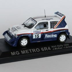 MG Metro 6R4 RAC Rally 1986 N°15 - J.McRae & I.Grindrod - 1/43 en boite