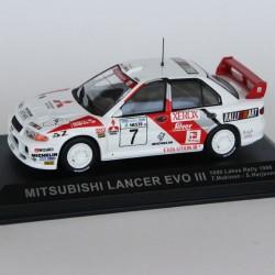 Mitsubishi Lancer Evo III 1000 Lakes Rally 1996 N°7 - T.Makinen & S.Harjanne - 1/43 en boite
