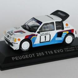 Peugeot 205 T16 Evo 1000 Lakes Rally 1986 N°1 - T.Salonen & S.Harjanne - 1/43 en boite