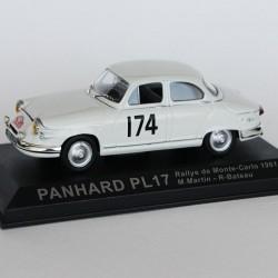 Panhard PL17 Rallye de Monte Carlo 1961 N°174 - M.Martin & R.Bateau - 1/43 en boite