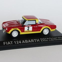 Fiat 124 Abarth Rallye du Portugal 1974 N°2 - R.Pinto & A. Bernacchini - 1/43 en boite