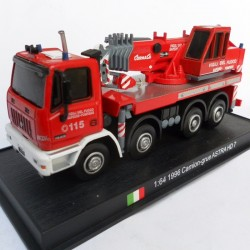 Camion Grue Astra HD7 1996 - Pompier Italie - 1/64 sous blister
