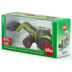 SIKU - 1/50 - Tractopelle verts - claas avec chargeur frontal  - Ref 1979