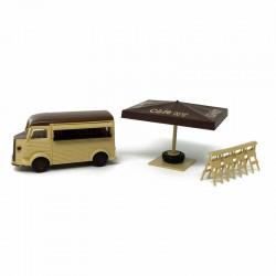 "Citroen HY - Food Truck ""Café HY"" (véhicule + accessoires) - BUSCH -  HO 1/87eme"