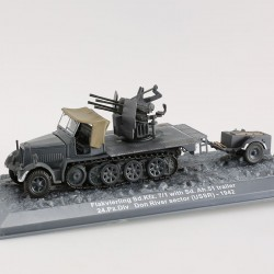 CHAR - TANK - Flakvierling SD.kfz . 7/1 whith SD.Ah .51 trailer 24.PZdiv Don river sector(USSR)1942 1/72