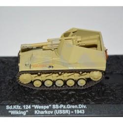 """CHAR - TANK sd.Kfz. 124 """"Wespe""""SS-Pz.Gren.div. """"Wiking"""" kharkov (USSR)-1943 1/72"""