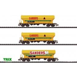 """Coffret de 3 Wagons """"Sanders"""" - Trix - Echelle : N"""