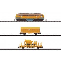 """Coffret  """"Trains de Travaux"""" Loco, Wagons...  4 Eléments - Trix - Echelle : N"""
