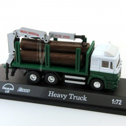 Camion Man Heavy Truck Transport de Bois - 1/72 En boite