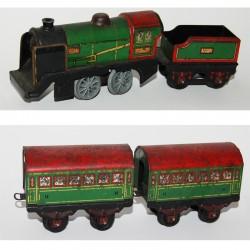 Loco + 2 wagons Hornby O réf 3615