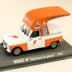 """Renault 4 """" Marchand de Glaces Miko """" 1968 - 1/43 En boite"""
