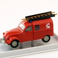 """Citroen 2cv Brekina """"Pompiers"""" 1/87 - en boite"""