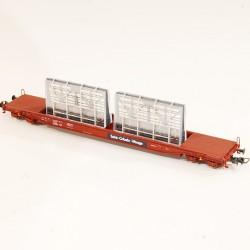 wagon plat Roco transport matériel de chantier