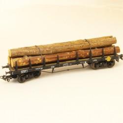 wagon Liliput HO chargement de bois