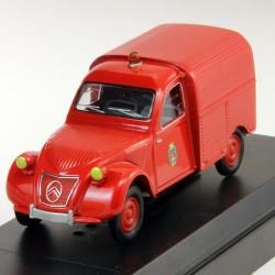 Citroen 2cv Camionnette - 1961 - Solido Pompiers - 1/43eme