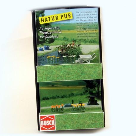 Décor Busch - Fleurs et Brouette - 1/87 En boite