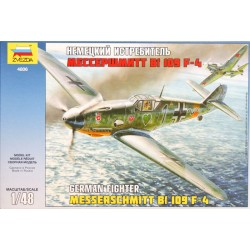 Zvezda - German Fighter - Messerschmitt Bf 109 F-4 - 1/48