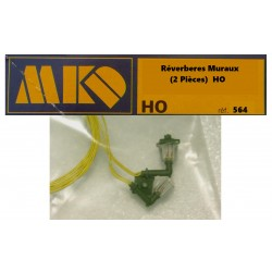 MKD - HO 1/87 - 2 Réverbères Muraux - ref 564