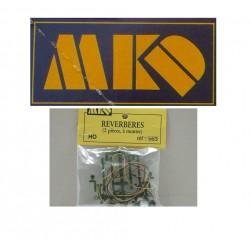 MKD - HO 1/87 - 2 Réverbères à monter - ref 563