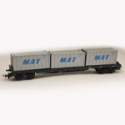 Trix HO wagon porte container 24504 3