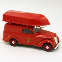 Renault Juvaquatre Pompier avec Barque - Eligor - 1/43ème