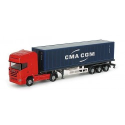 "Camion Herpa "" CMA CGM "" - 1/160 ème En boite"