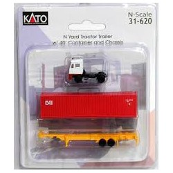 Kato 31-620 - Camion Container et Chassis - N