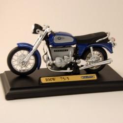 Moto BMW 75/5 Bleu - Welly - 1/18 ème En boite