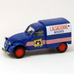 """Citroen 2CV Fourgonnette """"L'alsacienne Biscuit"""" - Norev - 1/43 sous blister"""