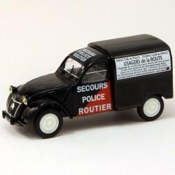 """Citroen 2cv  """" Secours Police Routier """" - Norev - 1/43 ème"""