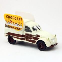 """Citroen 2CV Fourgonnette """"Chocolat"""" - Norev - 1/43ème sous blister"""