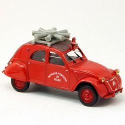 """Citroen 2CV """"Sapeurs Pompiers"""" - Norev - 1/43ème sous blister"""