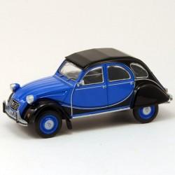 Citroen 2cv Bleu et Noire - Eligor - 1/43 ème